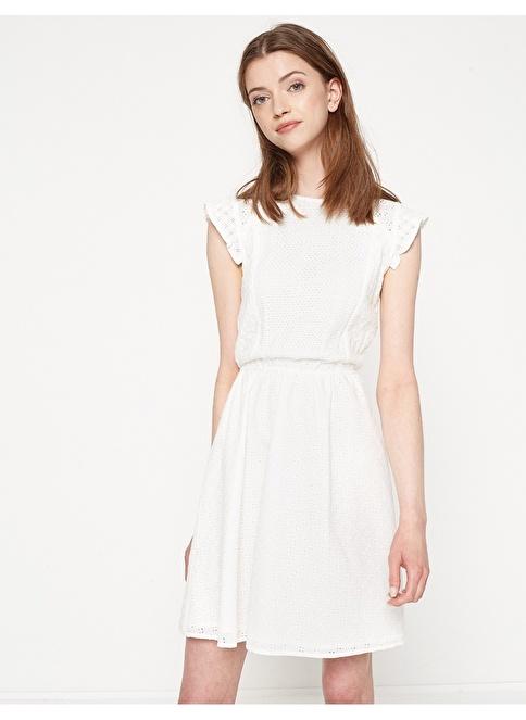 Koton Kısa Kloş Elbise Beyaz